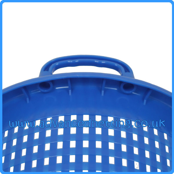 Blue Plastic 44ltr Fish Basket with Moulded Handles